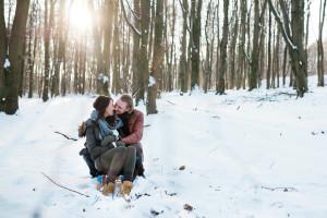 Wintershooting Schnee Pärchenshooting Coupleshooting Engagementshooting Kassel