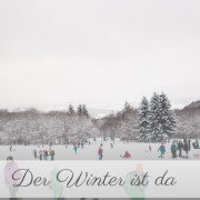 Winterausflug Rodeln Schlitten